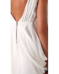Alice + Olivia | White Faux Wrap Gown | Lyst