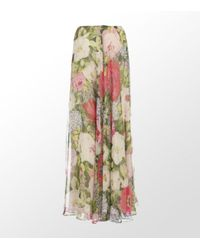 Paul & Joe | White Silk Floral Maxi Skirt | Lyst