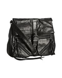 Rebecca Minkoff | Black Leather Main Squeeze Foldover Crossbody Bag | Lyst