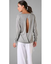 RLX Ralph Lauren | Gray Open Back V Neck Sweater | Lyst