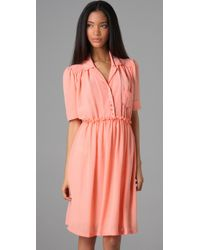 See By Chloé | Pink Short Sleeve Shirtdress | Lyst