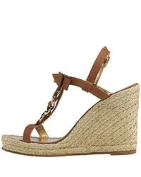 kate spade new york - Brown New York Brook Chain Espadrille Sandals - Lyst