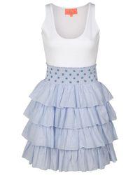 Manoush | Blue Poupette Tank Dress | Lyst
