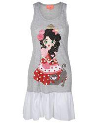 Manoush - Gray Flamenco Gypsy Doll Dress - Lyst