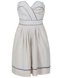 Paul & Joe - Natural Spotted Strapless Dress - Lyst