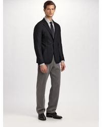 Armani | Black Deconstructed Wool/cashmere Blazer for Men | Lyst