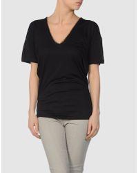 DSquared²   Black Lace T-shirt   Lyst