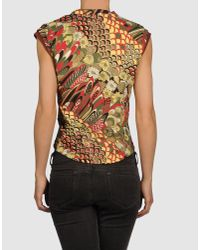 Just Cavalli - Black Sleeveless T-shirt - Lyst