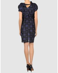Marni - Blue 3/4-sleeve Denim Side-zip Dress - Lyst