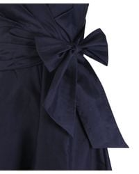 Paddy Campbell - Blue Navy Dulce Vita Silk Dress - Lyst