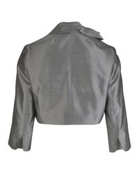 Paddy Campbell | Metallic Silk Bow Bolero | Lyst