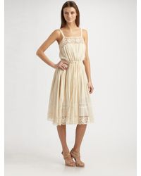 Rebecca Taylor | Natural Bohemian Cami Dress | Lyst