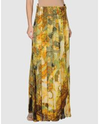 Roberto Cavalli - Multicolor Enchanted Garden Tiered Long Skirt - Lyst