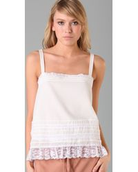 Textile Elizabeth and James | White Astrid Cami | Lyst
