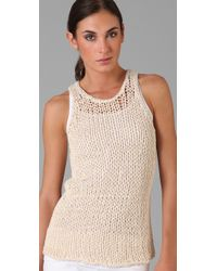 Vince - White String Sweater Tank - Lyst