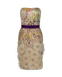 Carolina Herrera - Multicolor Strapless Floral Dress - Lyst
