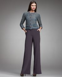 Fendi | Purple High-waist Wide-leg Pants, Violet Gray | Lyst