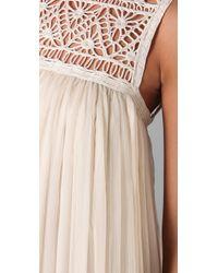 Adam Lippes | White Crocheted Lace and Silk-chiffon Maxi Dress | Lyst