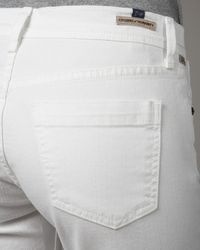 Citizens of Humanity | Dani Rolled-leg Cropped Jeans, White | Lyst