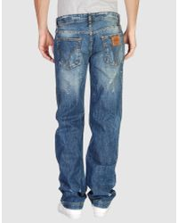 Dolce & Gabbana - Blue Used Denim Trousers for Men - Lyst
