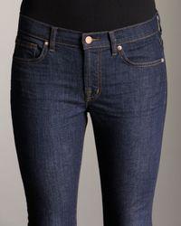 J Brand - Blue Gigi Pure Ink Cropped Jeans - Lyst