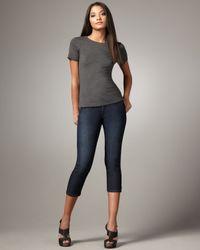 James Jeans | Blue Billie Comfort Caliko Cropped Jeans | Lyst