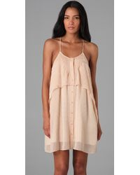 The Addison Story - Natural V Weave Tiered Dress - Lyst