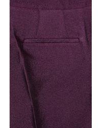 Burberry Prorsum - Purple Crepe Bootcut Pants - Lyst