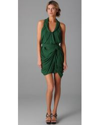 Camilla & Marc | Green Antiquity Shirt Detail Draped Frock | Lyst