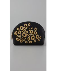 Rebecca Minkoff | Black Cheetah Makeout Cosmetic Case | Lyst