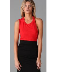 Acne Studios - Red Moonwater Top with Cutout Back - Lyst