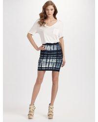 BCBGMAXAZRIA | Blue Tie Dye Mini Skirt | Lyst