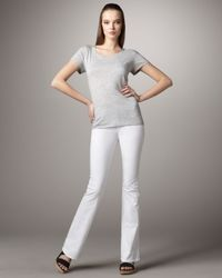 J Brand | Lexington White Boot-cut Jeans | Lyst