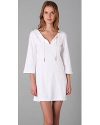 Juicy Couture - White Bell Sleeve Tunic Dress with Gold Tassels - Lyst