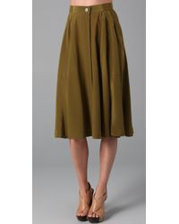Madewell | Green Draped Military Skirt | Lyst