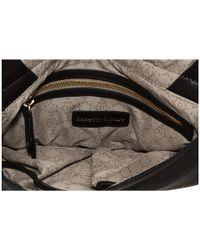 Nanette Lepore - Black Beaded Mixed Leather Messenger - Lyst