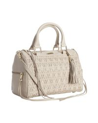 Rebecca Minkoff | Natural Cream Leather Flame Lattice Woven Top Handle Bag | Lyst