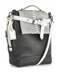 Reed Krakoff | Black Kick Boxer Leather and Snakeskin Bag | Lyst