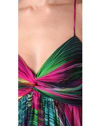 Shoshanna - Multicolor Sunset Stripe Maxi Dress - Lyst