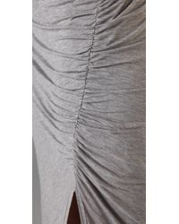 A.L.C. - Gray Theo Ruched Stretch-jersey Maxi Dress - Lyst
