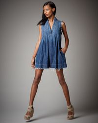 Current/Elliott | Blue Craftsman Smock Dress | Lyst