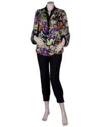 Diane von Furstenberg | Multicolor Wynn Printed Silk-chiffon Top | Lyst