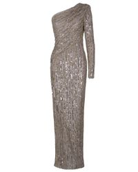 Eastland | Metallic One Shoulder Sequin Gown | Lyst
