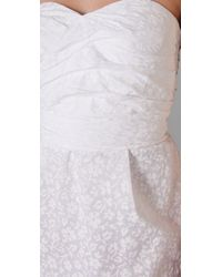 Marc By Marc Jacobs - White Amelie Floral-print Strapless Dress - Lyst