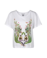 Paul & Joe | White Lilou T-shirt with Monkey Print | Lyst