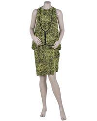 Proenza Schouler - Multicolor Boucle Blouson Dress with Yoke - Lyst
