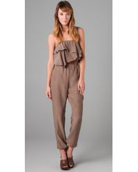 The Addison Story - Natural Belted Jumpsuit - Lyst