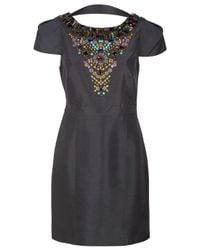 Tibi - Black Beaded Backless Dress - Lyst