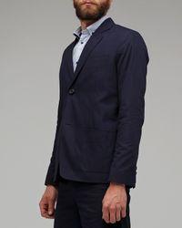 A.P.C. | Blue Classic Blazer for Men | Lyst