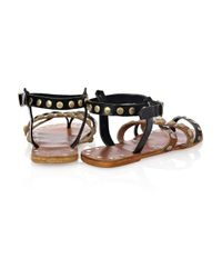 By Malene Birger - Brown Diva Studded Leather Sandals - Lyst